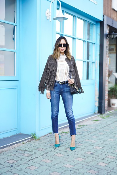 aimee_song_of_style_the_perfext_suede_fringe_jacket_self_portrait_lace_top_christian_louboutin_pumps_chloe_hudson_bag