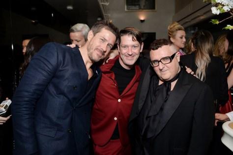 Mark Tevis, Eddie Roche and Alber Elbaz