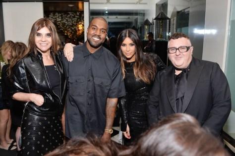 Carine Roitfeld, Kanye West, Kim Kardashian West and Alber Elbaz