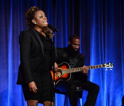 """""""NEW YORK, NY - APRIL 20: Ledisi performs onstage during Food Bank Of New York City's Can Do Awards 2016 hosted by Michael Strahan and Mario Batali on April 20, 2016 in New York City. (Photo by Kevin Mazur/Getty Images for Food Bank of New York City)"""""""