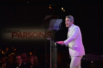 NEW YORK, NY - MAY 23: Andy Cohen speaks onstage during the 2016 Parsons Benefit at Chelsea Piers on May 23, 2016 in New York City. (Photo by Andrew Toth/Getty Images for Parsons School of Design/The New School)