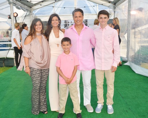 Sabrina Baum, Maria Baum, Joey Baum, Larry Baum, Gregory Baum==The 2016 Hamptons Paddle & Party for Pink Benefiting the Breast Cancer Research Foundation==Fairview on Mecox Bay, Bridgehampton, NY==August 06, 2016==© Patrick McMullan==Photo - Patrick McMullan/PMC== ==