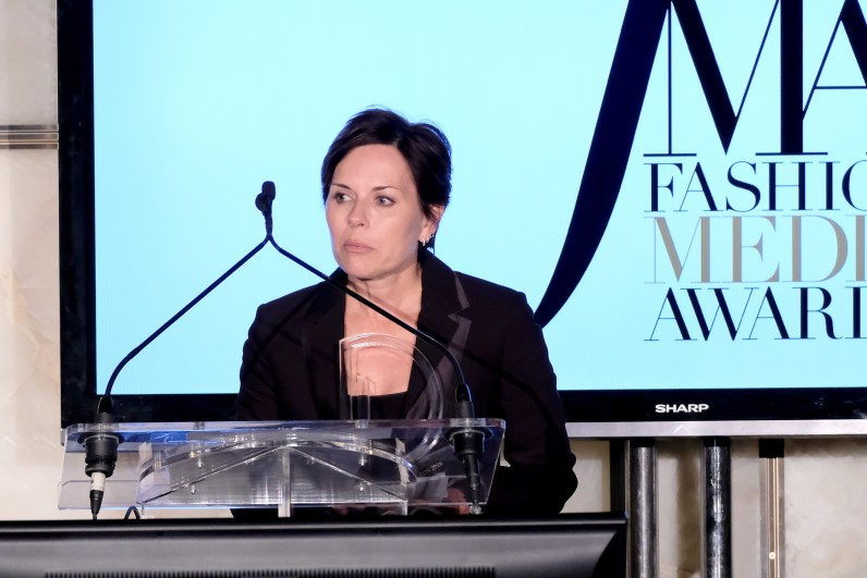 NEW YORK, NY - SEPTEMBER 08: (EXCLUSIVE ACCESS, SPECIAL RATES APPLY) Calvin Klein CMO Melisa Goldie receives the campaign of the year award at The Daily Front Row's 4th Annual Fashion Media Awards at Park Hyatt New York on September 8, 2016 in New York City. (Photo by Larry Busacca/Getty Images)