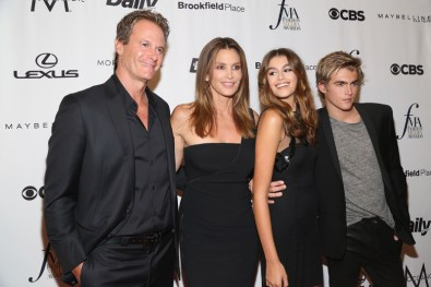 Rande Gerner, Cindy Crawford, Kaia Gerber, Presley Walker Gerber==The Daily Front Row's 4th Annual Fashion Media Awards - Arrivals==Park Hyatt New York, NYC==September 8, 2016==©Patrick McMullan==Photo - Sylvain Gaboury/PMC== == Rande Gerner; Cindy Crawford; Kaia Gerber; Presley Walker Gerber