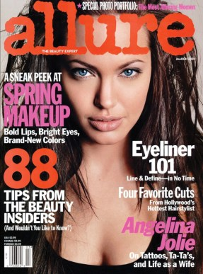 Angelina Jolie on the March 2001 cover of Allure