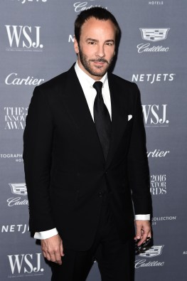 NEW YORK, NY - NOVEMBER 02: Designer and director Tom Ford attends the WSJ Magazine 2016 Innovator Awards at Museum of Modern Art on November 2, 2016 in New York City. (Photo by Nicholas Hunt/Getty Images for WSJ. Magazine Innovators Awards)