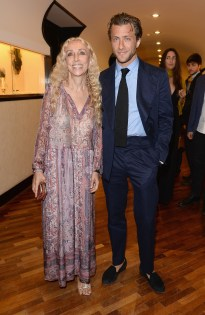 VENICE, ITALY - AUGUST 27: Franca Sozzani and her son Francesco Carrozzini attend the Uomo Vogue Cocktail Party during the 70th Venice International Film Festival at the Terrazza Maserati on August 27, 2013 in Venice, Italy. (Photo by Venturelli/WireImage)