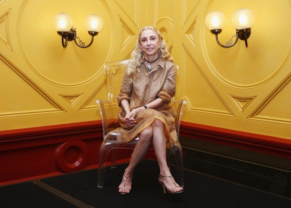SYDNEY, AUSTRALIA - MARCH 26: Editor in Chief of Vogue Italia and L'Uomo Vogue Franca Sozzani poses at a press conference to launch World Wide Wool and L'Umomo Vogue in partnership with Woolmark Company at Sydney Town Hall on March 26, 2014 in Sydney, Australia. (Photo by Don Arnold/Getty Images)