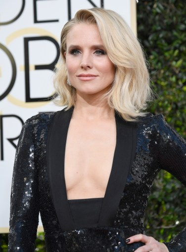 BEVERLY HILLS, CA - JANUARY 08: Actress Kristen Bell attends the 74th Annual Golden Globe Awards at The Beverly Hilton Hotel on January 8, 2017 in Beverly Hills, California. (Photo by Frazer Harrison/Getty Images)