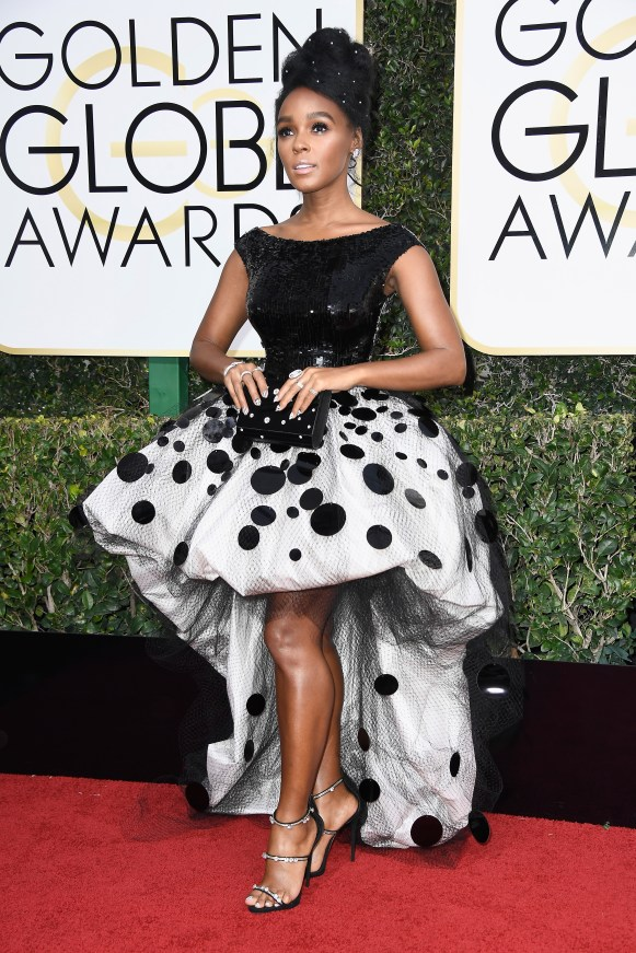 BEVERLY HILLS, CA - JANUARY 08: Musician/Actress Janelle Monae attends the 74th Annual Golden Globe Awards at The Beverly Hilton Hotel on January 8, 2017 in Beverly Hills, California. (Photo by Frazer Harrison/Getty Images)
