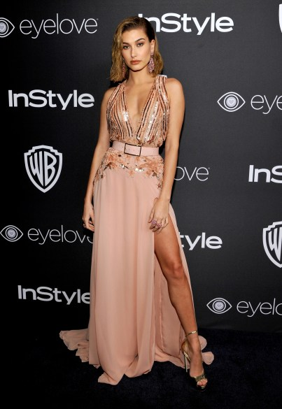 BEVERLY HILLS, CA - JANUARY 08: Model Hailey Baldwin attends The 2017 InStyle and Warner Bros. 73rd Annual Golden Globe Awards Post-Party at The Beverly Hilton Hotel on January 8, 2017 in Beverly Hills, California. (Photo by John Sciulli/Getty Images for InStyle)