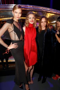 LONDON, ENGLAND - FEBRUARY 21: (L-R) Karlie Kloss, Natalia Vodianova and Stella McCartney attend LondonÕs Fabulous Fund Fair hosted by Natalia Vodianova and Karlie Kloss in support of The Naked Heart Foundation on February 21, 2017 at The Roundhouse in London, England. (Photo by David M. Benett/Dave Benett/ Getty Images for The Naked Heart Foundation) *** Local Caption *** Karlie Kloss; Natalia Vodianova; Stella McCartney