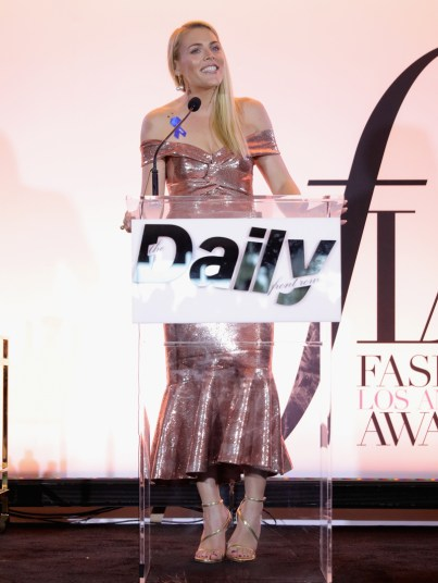 WEST HOLLYWOOD, CA - APRIL 02: Actor Busy Philipps speaks onstage during the Daily Front Row's 3rd Annual Fashion Los Angeles Awards at Sunset Tower Hotel on April 2, 2017 in West Hollywood, California. (Photo by Neilson Barnard/Getty Images)