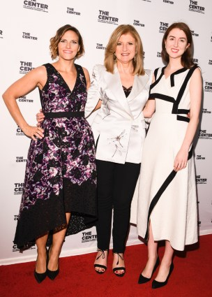 Glennda Testone, Arianna Huffington, Isabella Huffington