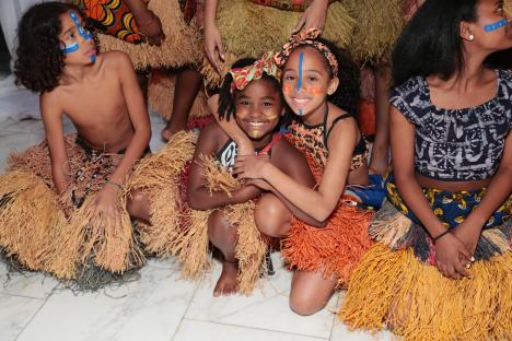 NEW YORK, NY - MAY 17: Swahili children's dance troupe, Batoto Yetu attend as Malaika hosts Malaika10 honoring Barry Segal & Tina Buchan at Espace on May 17, 2017 in New York City. (Photo by Cindy Ord/Getty Images for Malaikla10)