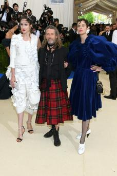 "NEW YORK, NY - MAY 01: (L-R) Anna Cleveland, Julien d'Ys, and Stella Tennant attend the ""Rei Kawakubo/Comme des Garcons: Art Of The In-Between"" Costume Institute Gala at Metropolitan Museum of Art on May 1, 2017 in New York City. (Photo by Dia Dipasupil/Getty Images For Entertainment Weekly)"