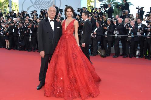 """CANNES, FRANCE - MAY 17: Fawaz Gruosi and Sara Sampaio attend the """"Ismael's Ghosts (Les Fantomes d'Ismael)"""" screening and Opening Gala during the 70th annual Cannes Film Festival at Palais des Festivals on May 17, 2017 in Cannes, France. (Photo by Pascal Le Segretain/Getty Images)"""