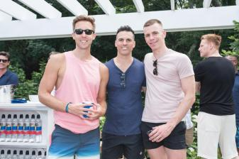 SAG HARBOR, NY - JULY 15: Benjamin Dixon and Neil Beckstedt attend The Daily Summer's 3rd annual Boys of Summer Party on July 15, 2017 in Sag Harbor, New York. (Photo by Presley Ann/Patrick McMullan via Getty Images)