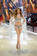 PARIS, FRANCE - NOVEMBER 30: Josephine Skriver walks the runway with Swarovski crystals during Victoria's Secret Fashion Show on November 30, 2016 in Paris, France. (Photo by Julien M. Hekimian/Getty Images for Swarovski)