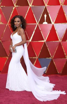 Janet Mock in Christian Siriano (Getty Images)