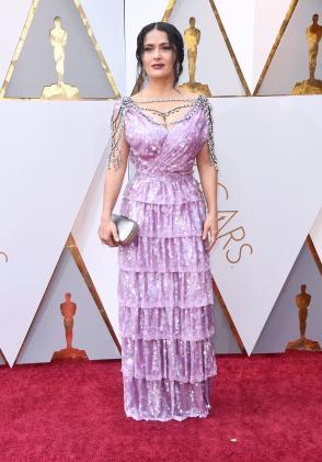 Salma Hayek in Gucci (Getty Images)
