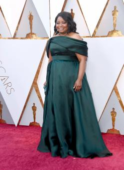 Octavia Spencer in Brandon Maxwell (Getty Images)