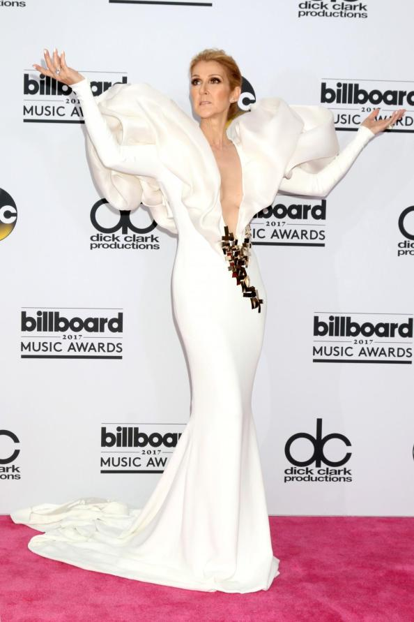 Celine Dion at the 2017 Billboard Music Awards, styled by Law Roach. (Shutterstock)