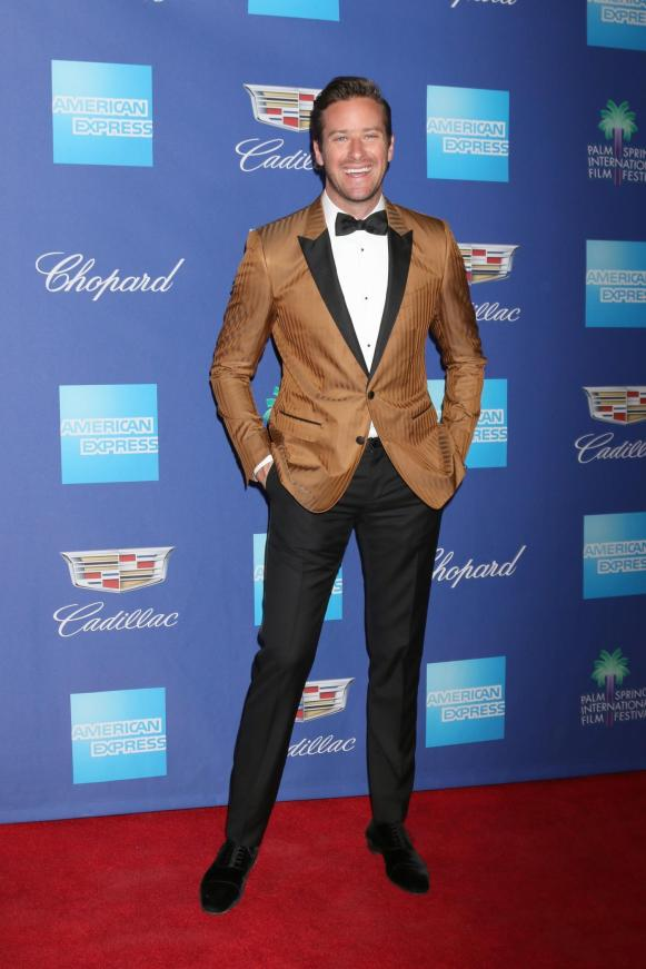 Armie Hammer at the 2018 Palm Springs International Film Festival Awards Gala, styled by Ilaria Urbinati. (Shutterstock)