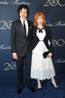 Geoffrey Arend and Christina Hendricks (Patrick McMullan)