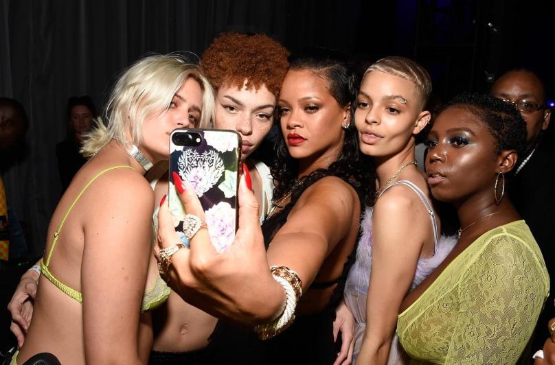 Stella Duval, Carissa Pinkston, Rihanna, and India Graham (Getty Images)