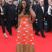 African Actress Jackie Appiah Walks the Red Carpet at the 2012 Cannes Film Festival in Kente by JiL Boutique