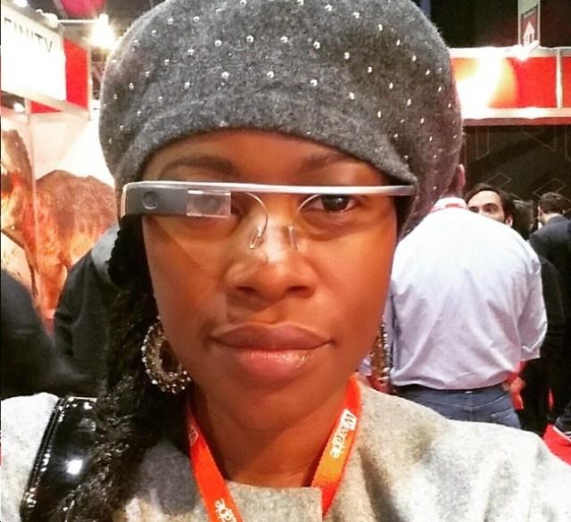 Muchaneta Kapfunde Wearing Google Glass