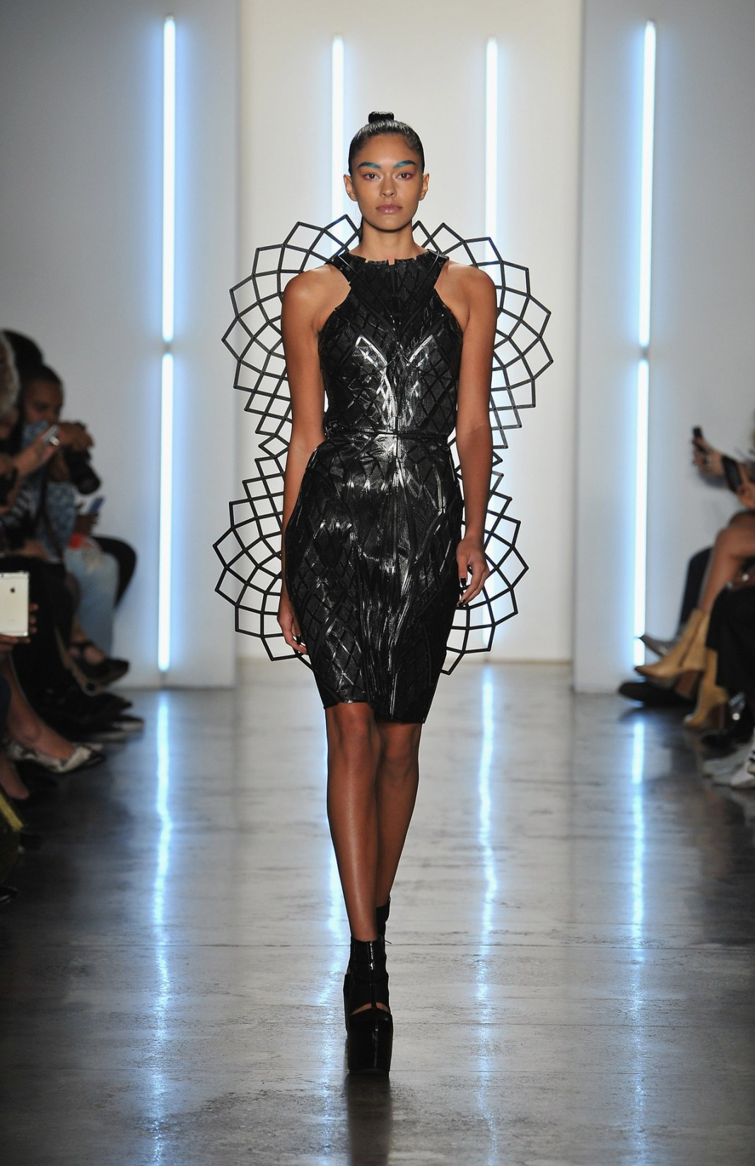 NEW YORK, NY - SEPTEMBER 11:  A model walks down the runway during the Chromat fashion show during Spring 2016 New York Fashion Week at Milk Studios on September 11, 2015 in New York City.  (Photo by Fernando Leon/Getty Images)