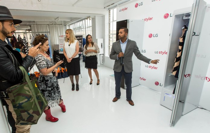 LG Styler Clothing Care System debuts at New York Fashion Week on 10th September 2015. Photo Credit: INSIDER IMAGES (UNITED STATES)