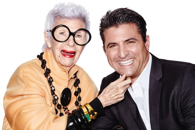 Iris Apfel with Gerry Wilmink