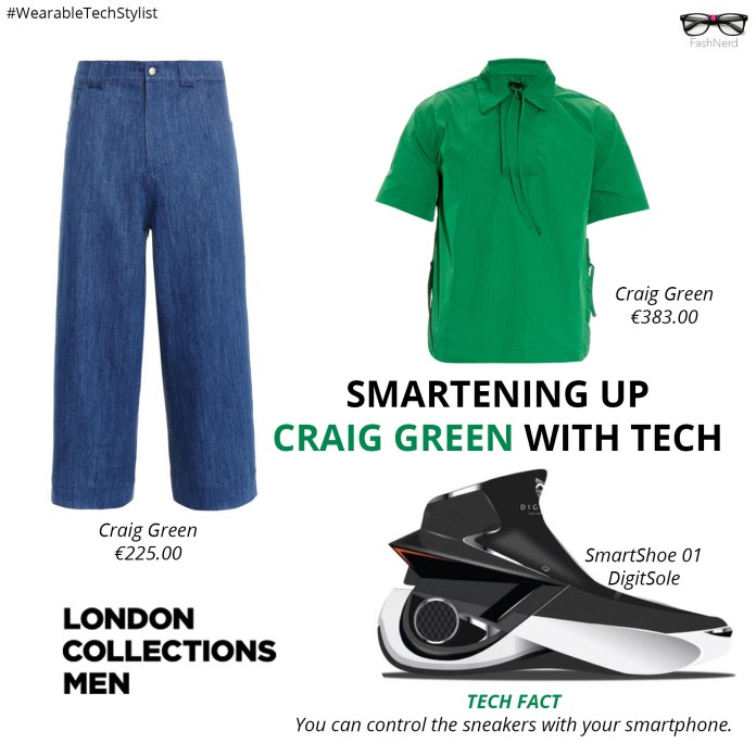 Smartening up craig green with tech