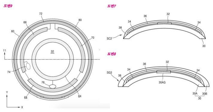 Patent diagrams for Samsung's smart contact lenses.