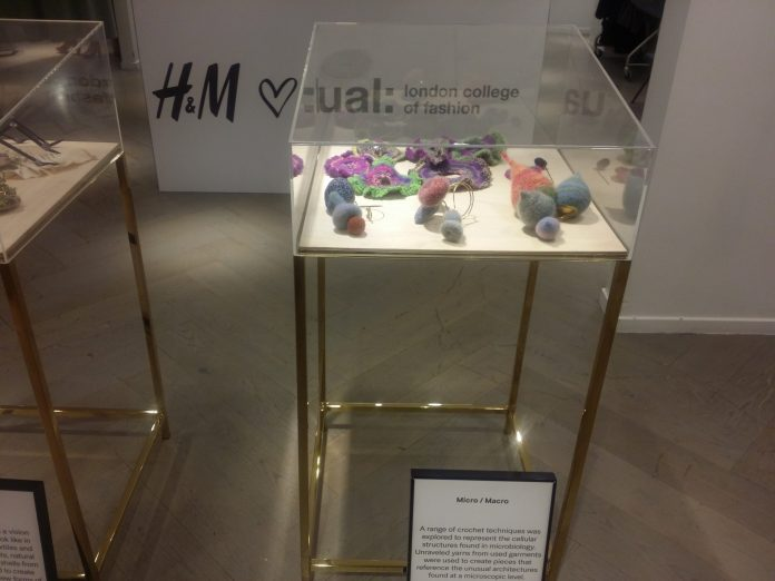 The collection on display at H&M Oxford Street branch