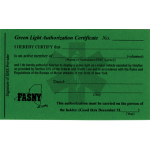 Green Light Authorization Card