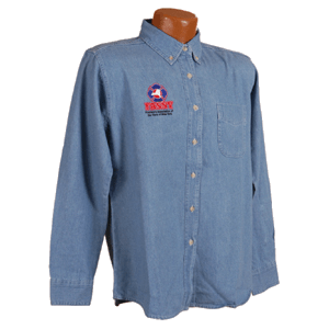 Denim Shirt Mens Longsleeve