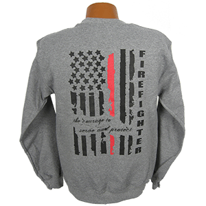 """Red Line Series"" Distressed Flag Sweatshirt"
