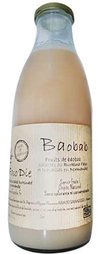 Photo de la bouteille de jus du baobab