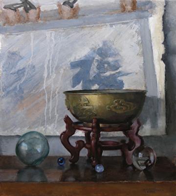 "Lindsay's Honeymoon by Robert Paulmenn Oil ~ 20"" x 18"""