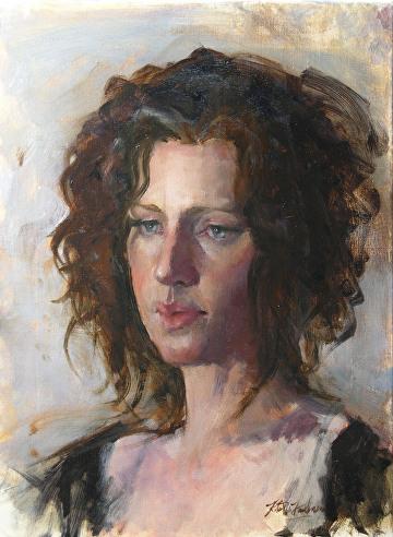 """Portrait of Evonne by Robert Paulmenn Oil ~ 16"""""""" x 12"""""""