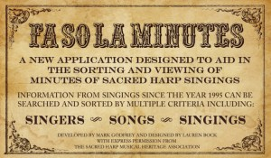 "The ""FaSoLa Minutes"" app offers new ways to view and search Sacred Harp minutes."