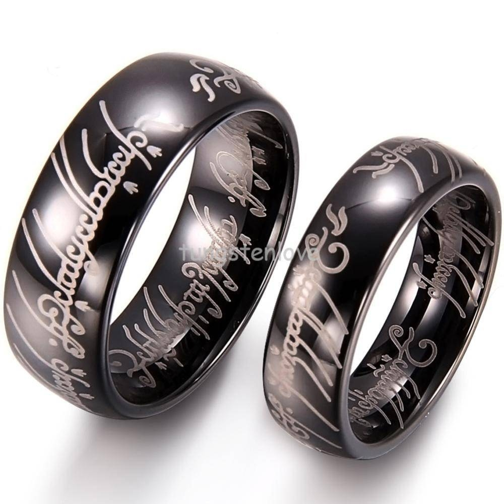 21 Inspirations Of Titanium Lord Of The Rings Wedding Bands