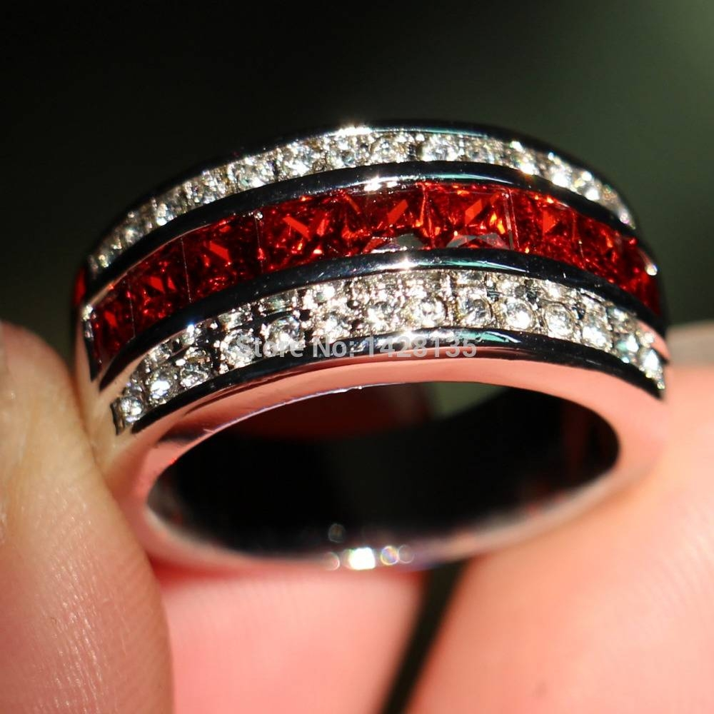 2018 Latest Red Mens Wedding Bands