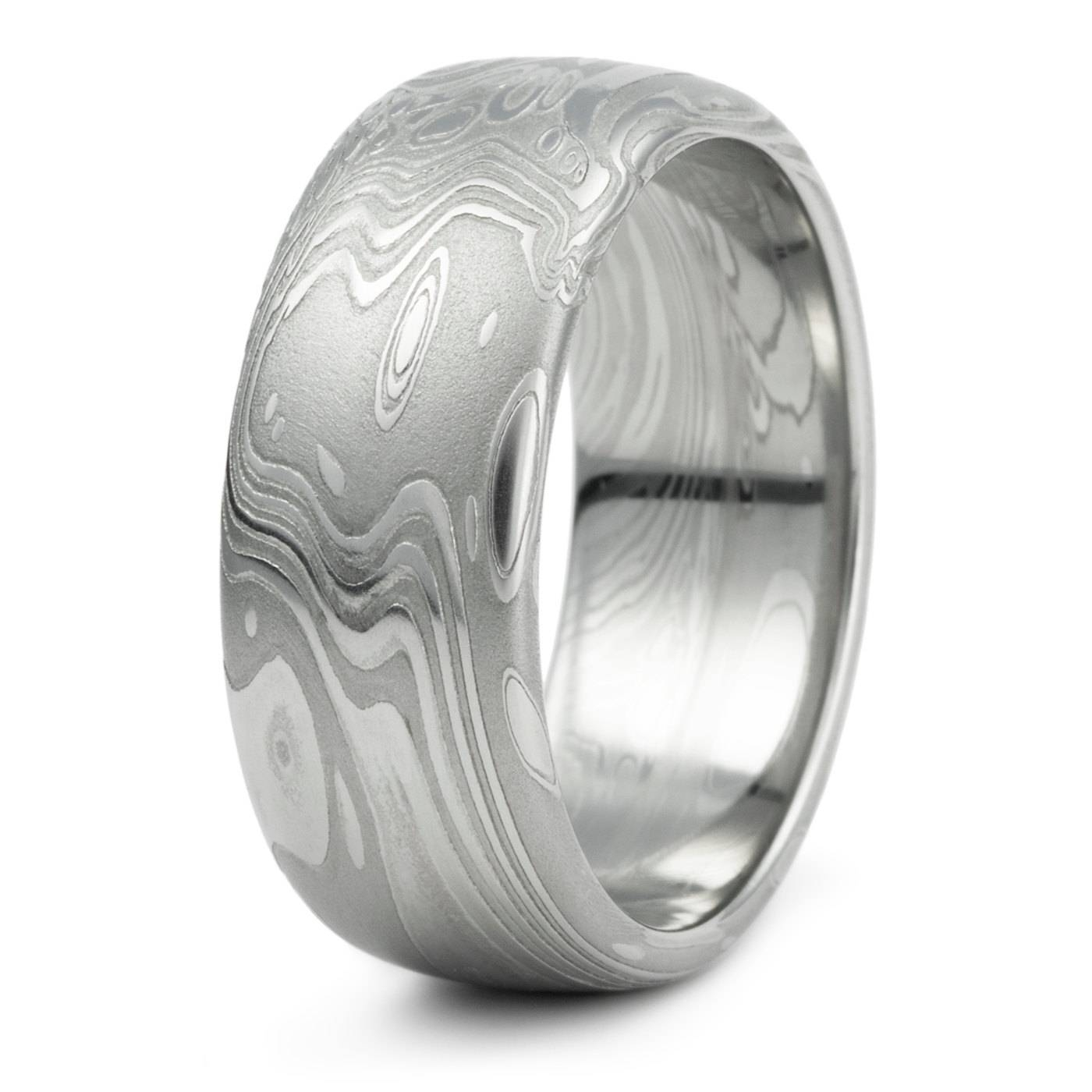 15 Best Collection Of Damascus Steel Mens Wedding Bands