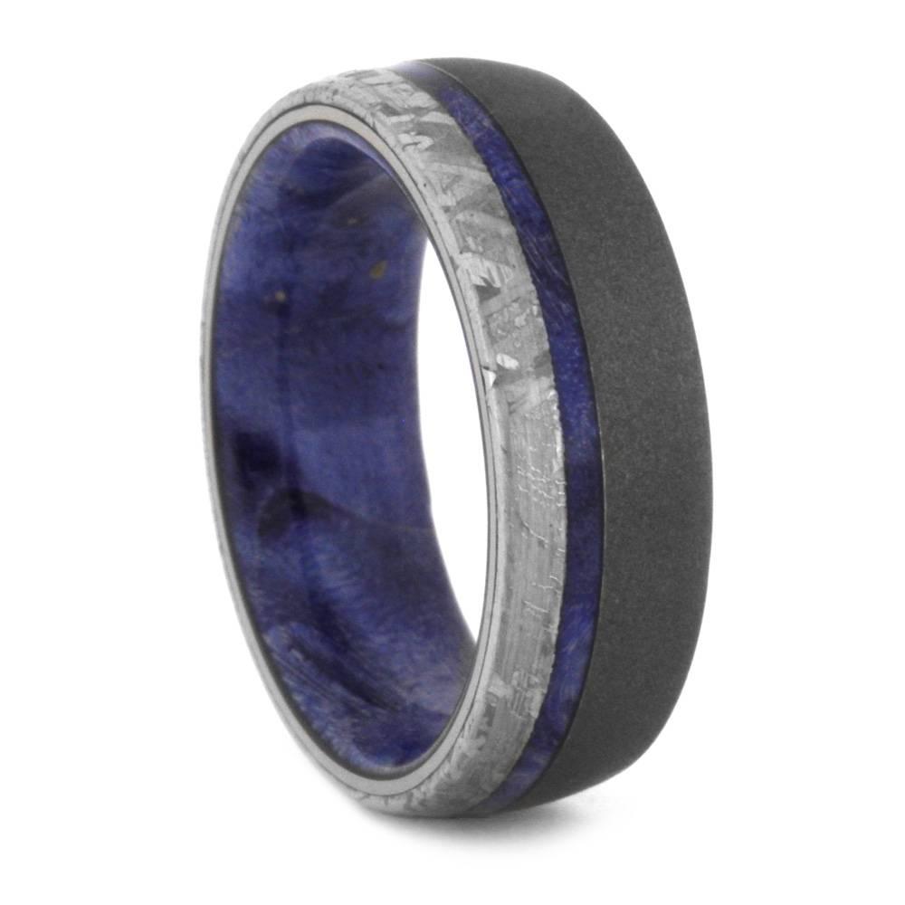 Bayou Titanium Ring With Rainbows Titanium Wedding Rings
