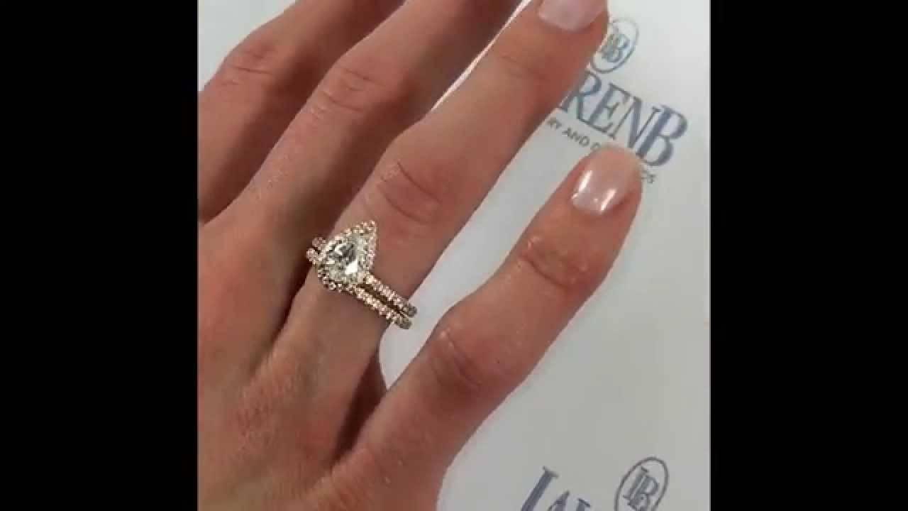 Ring Diamond Carat Shaped Hand Pear 2